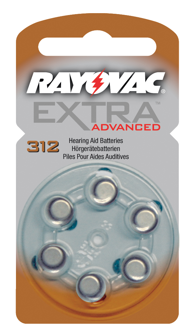 Piles auditives Rayovac 312